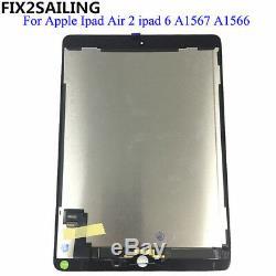 LCD Tactile De Remplacement D'écran Pour Ipad 6 6ème Gen Air 2 Affichage Et Digitizer