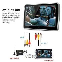 Lecteur DVD Auto Usb / Sd / Ir / Fm / Jeu 10.1 LCD Écran Tactile LCD Hd
