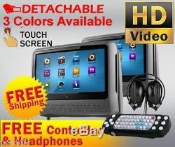 Lecteur De DVD À Moniteur Tactile LCD Avec Appuie-tête Tactile Gris Double Du 2019