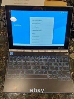 Lenovo Yoga Book 10.1 64go Android 2 En 1 Gunmetal Yb1-x90f Lire Desc