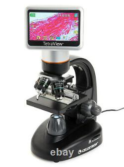 Microscope À Écran Tactile Numérique Celestron Tetraview Lcd, Noir/argent 44347