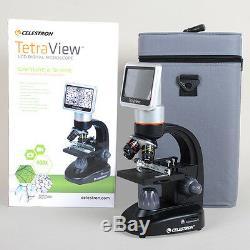 Microscope Numérique LCD Celestron 400x Tetra View 4.3 Écran Tactile LCD 180 ° 44347