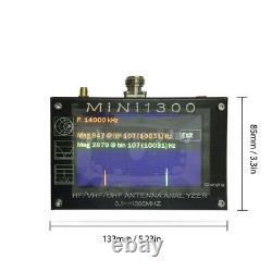 Mini1300 Analyseur D'antenne Hf/vhf/uhf 0,1-1300mhz Avec Écran Tactile LCD Tft De 4.3inch