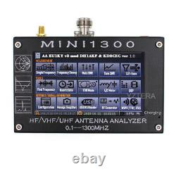 Mini1300 Hf/vhf/uhf Antenna Analyzer 0.1-1300mhz Avec 4.3 Tft LCD Écran Tactile Swr
