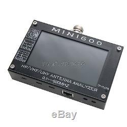 Mini600 Hf / Vhf / Uhf Analyseur 0.1-600mhz Avec 4,3 Tft LCD À Écran Tactile Padé