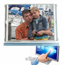 Moniteur LCD 17 Pouces Tft 43cm Écran Tactile Écran Tactile Dauerbetrieb Für Windows Xp Vista 7