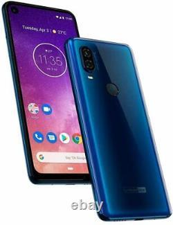Motorola One Vision (128 Go, 4 Go) 6.3 219 LCD 4g Lte Gsm Déverrouillé Xt1970-2 Bleu