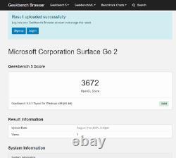 Nib Microsoft Surface Go 2 Pour Les Affaires (m3/64gb/4gb Ram) Bundled Avec Couverture De Type