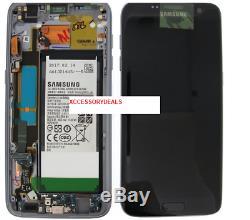 Noir -véritable Samsung Galaxy S7 Edge LCD À Écran Tactile Digitizer