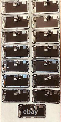 Nombre D'écrans X Iphone 15x LCD Et Écran Tactile (non Testé) Pas De Fissures Pour Les Pièces