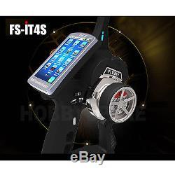 Nouveau Flysky Fs-it4s 2.4ghz Écran Tactile Radio Compétition Rc 4ch Complet Complète