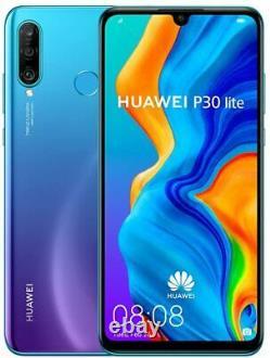 Nouveau Huawei P30 Lite Blue 128gb 4g Lte 6.15 Gps LCD 48mp Smartphone Non Verrouillé