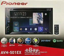 Nouveau Pioneer Avh-501ex 2-din Au Tableau De Bord 6.2 LCD DVD / CD / Am / Fm Stéréo Voiture Récepteur