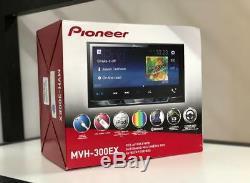 Nouveau Pioneer Mvh-300ex Lecteur Multimédia Numérique Double 2din Mp3 / Wma 7 LCD Bluetooth