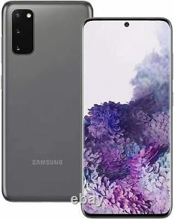 Nouveau Samsung Galaxy S20 5g 128gb Gris 6.2 LCD 64mp Nfc Gps Débloqué Smartphone