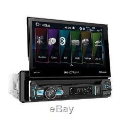 Nouveau Soundstream 1 Din Vr-75b Lecteur DVD / CD / Mp3 Flip Up 7 LCD Bluetooth Usb Aux