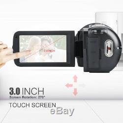 Ordro Hdv-z20 Wifi 3 '' LCD Caméscope Télécommande Caméscope Avec Microphone