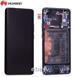 Original Huawei Mate 20 Pro LCD Display Écran Tactile Bildschirm Rahmen Akku Blau