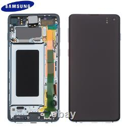 Original Samsung Galaxy S10 G973f LCD Display Écran Tactile Bildschirm Prism Blau