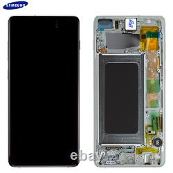 Original Samsung Galaxy S10 Plus G975f LCD Display Écran Tactile Bildschirm Weiß
