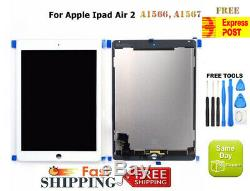 Pour Ipad 2 Air A1566 A1567 LCD Display + Tactile Remplacement Blanc Digitizer