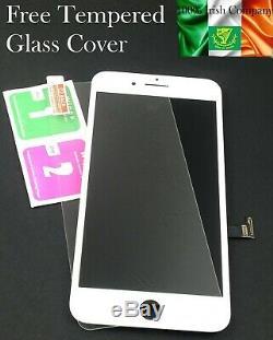 Pour Iphone 8 Plus LCD Remplacement De L'écran Blanc Écran Tactile Digitizer Objectif Avant