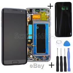Pour LCD Samsung Galaxy S7 Bord G935f Écran Tactile Affichage Digitizer + Cadre Noir