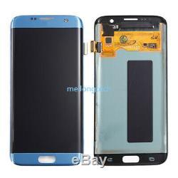 Pour Samsung Galaxy S7 Bord G935f Amoled Écran LCD À Écran Tactile Digitizer Bleu
