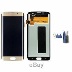Pour Samsung Galaxy S7 Edge G935f Ecran LCD Digitizer Silber Glas