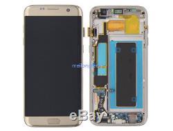 Pour Samsung Galaxy S7 Edge G935f Écran LCD + Écran Tactile Bildschirm + Rahmen Gold