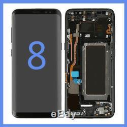 Pour Samsung Galaxy S8 G950f Cadre Écran Tactile Digitizer Cadre Noir