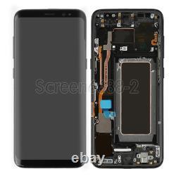 Pour Samsung Galaxy S8 G950f LCD Display Écran Tactile Digitiseur Noir+frame+cover