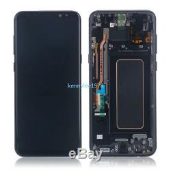 Pour Samsung Galaxy S8 + Plus G955f Écran LCD G955 Écran Tactile + Cadre Noir + Couvercle
