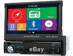Power Acoustik Pdn-726b Voiture Lecteur DVD / CD 7 LCD Navigation Gps Bluetooth Usb