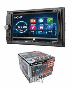 Puissance Acoustik 6.2 LCD Détachable 2-din DVD CD Mp3 Usb Am/fm Bluetooth Pd-625b