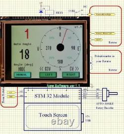 Rotateur D'antenne Kr400 Kenpro Kr400 Avec Contrôleur D'écran Tactile 3.2 LCD