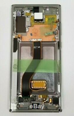Samsung Galaxy Note 10 Plus Argent Glow Écran D'affichage LCD Digitizer Cadre N975