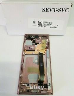 Samsung Galaxy Note 20 Ultra Bronze LCD Écran Tactile Digitizer + Frame N986 Oem