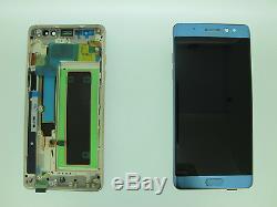 Samsung Galaxy Note 7 Fe N930f LCD Écran Tactile Véritable Original Bleu