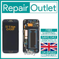 Samsung Galaxy S7 Bord G935f Remplacement Écran Tactile LCD Full Frame (noir)