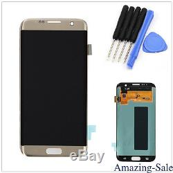 Samsung Galaxy S7 Edge Digitizer Touch Gold G935a G935t G935f Écran LCD Complet