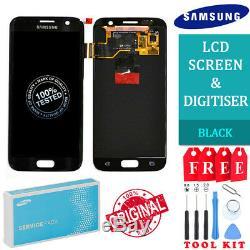 Samsung Galaxy S7 LCD Écran Tactile Ecran Oem Original Véritable Noir Uk