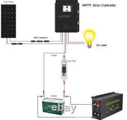Solar Laderegler Mppt Contrôleur De Charge 60a 12/24/36/48v Auto LCD Screen Touch