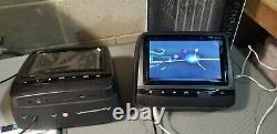 Sonic 2x7 Écran LCD Numérique Tft Car Appuie-tête DVD Oreiller Moniteur, Hr7a#