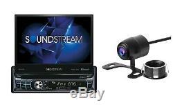 Soundstream 1 Din Vr-720b-c Lecteur DVD / CD Flip Up 7 Usb LCD Bluetooth Sd Aux