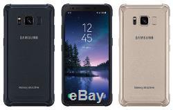 Téléphone Intelligent Samsung Galaxy S8 Active 64 Go Sm-g892a Gsm At & T Lte Ombre À Cristaux Liquides