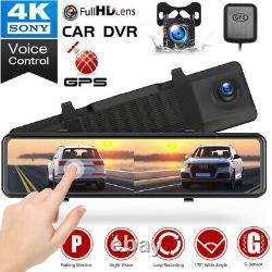 Toguard 12 4k Dual Dashcam Gps Kamera Auto Rückspiegel Écran Tactile Dvr Caméra