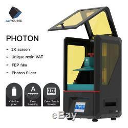 Uk Anycubic Photon Uv LCD Imprimante 3d Full Assemblé 2.8 Écran Tactile + 500ml Résine