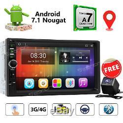 Unité Centrale Android 7.1 Wifi 7 LCD 2din Autoradio Lecteur Stéréo Gps Sat Nav Cam E